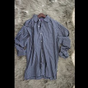 Ralph Lauren Purple Label Shirts - EUC Ralph Lauren Purple Label Plaid Shirt Navy L